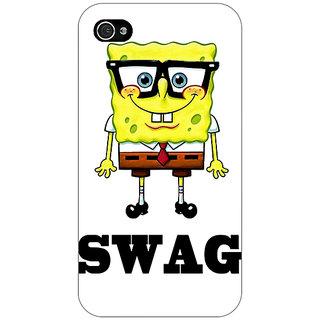 Enhance Your Phone Spongebob Back Cover Case For Apple iPhone 4 E10473
