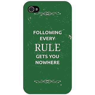 Enhance Your Phone SUITS Quotes Back Cover Case For Apple iPhone 4 E10486