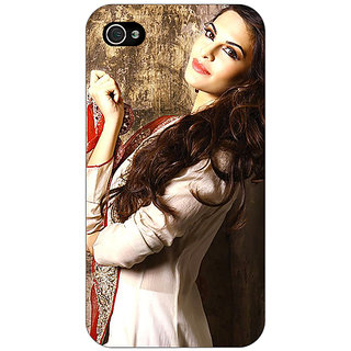 Enhance Your Phone Bollywood Superstar Jacqueline Fernandez Back Cover Case For Apple iPhone 4 E11044