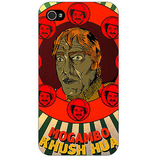 Enhance Your Phone Bollywood Superstar Mr. India Mogambo Back Cover Case For Apple iPhone 4 E11108