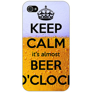 Enhance Your Phone Beer Quote Back Cover Case For Apple iPhone 4 E11259