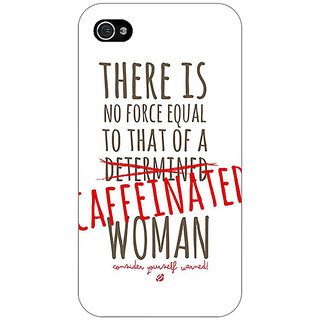 Enhance Your Phone Quote Back Cover Case For Apple iPhone 4 E11347