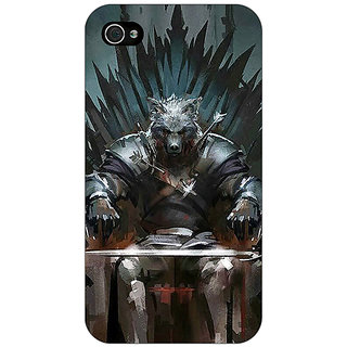 Enhance Your Phone Game Of Thrones GOT Iron Throne King Of The North Back Cover Case For Apple iPhone 4 E11533