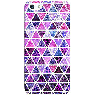 Enhance Your Phone Purple Triangles Pattern Back Cover Case For Apple iPhone 5 E20268
