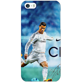 Enhance Your Phone Cristiano Ronaldo Real Madrid Back Cover Case For Apple iPhone 5 E20313