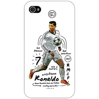 Enhance Your Phone Real Madrid Ronaldo Back Cover Case For Apple iPhone 4 E10586
