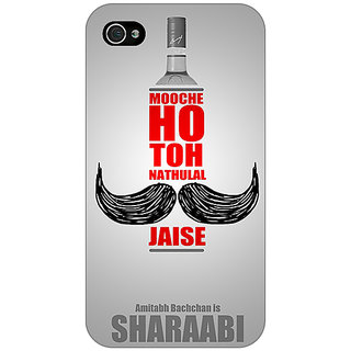 Enhance Your Phone Bollywood Superstar Natwarlal Sharaabi Back Cover Case For Apple iPhone 4 E11122