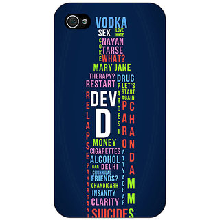Enhance Your Phone Bollywood Superstar DevD Back Cover Case For Apple iPhone 4 E11130