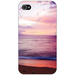 Enhance Your Phone Sunset At the Beach Back Cover Case For Apple iPhone 4 E11136