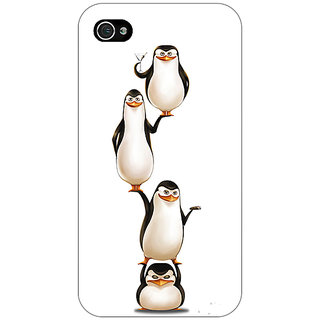 Enhance Your Phone Penguins Madagascar Back Cover Case For Apple iPhone 4 E11385