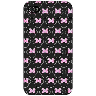 Enhance Your Phone Minnie Mouse Pattern Back Cover Case For Apple iPhone 4 E11386