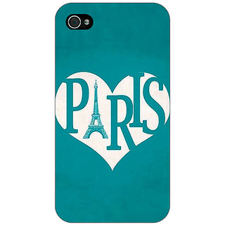 Enhance Your Phone Paris love Back Cover Case For Apple iPhone 4 E11404