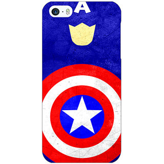 Enhance Your Phone Superheroes Captain America Back Cover Case For Apple iPhone 5 E20331