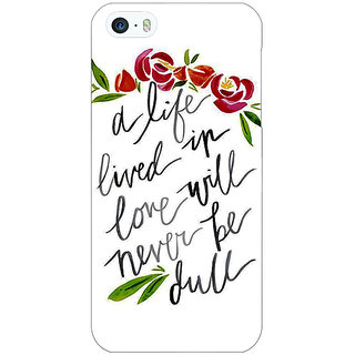 Enhance Your Phone Quotes Back Cover Case For Apple iPhone 5 E21195