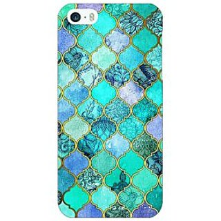 Enhance Your Phone Sky Blue Morocan Tiles Pattern Back Cover Case For Apple iPhone 5c E30292