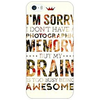 Enhance Your Phone SUITS Quotes Back Cover Case For Apple iPhone 5 E20481