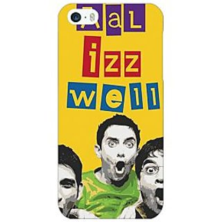 Enhance Your Phone Bollywood Superstar Three Idiots All is Well Back Cover Case For Apple iPhone 5 E21111