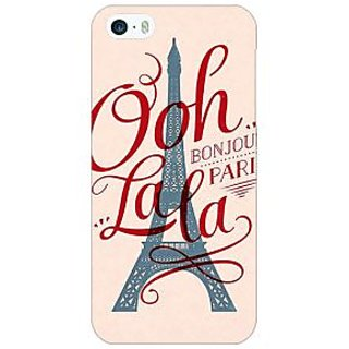 Enhance Your Phone Quotes Paris Back Cover Case For Apple iPhone 5 E21166