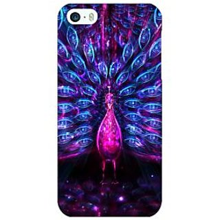 Enhance Your Phone Paisley Beautiful Peacock Back Cover Case For Apple iPhone 5 E21600