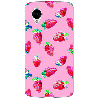 Enhance Your Phone Strawberry Pattern Back Cover Case For Google Nexus 5 E40203