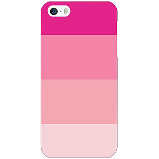 Enhance Your Phone Pink Stripes Back Cover Case For Apple iPhone 5c E31147