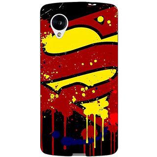 Enhance Your Phone Superheroes Superman Back Cover Case For Google Nexus 5 E40034