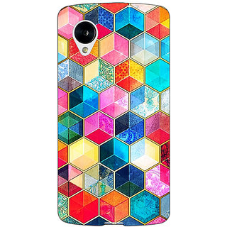 Enhance Your Phone Coloured Hexagons Pattern Back Cover Case For Google Nexus 5 E40275