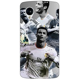 Enhance Your Phone Cristiano Ronaldo Real Madrid Back Cover Case For Google Nexus 5 E40307