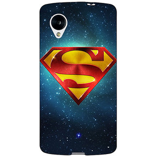 Enhance Your Phone Superheroes Superman Back Cover Case For Google Nexus 5 E40383