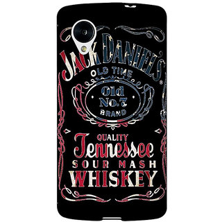 Enhance Your Phone Jack Daniels JD Whisky Back Cover Case For Google Nexus 5 E41223