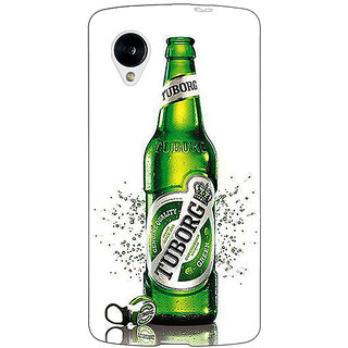 Enhance Your Phone Tuborg Beer Back Cover Case For Google Nexus 5 E41244