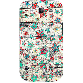 Enhance Your Phone Funky Stars Pattern Back Cover Case For Samsung Galaxy S3 E50264