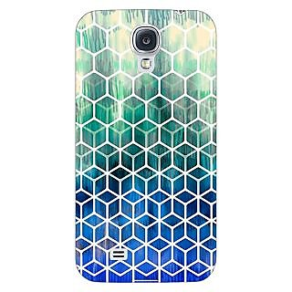 Enhance Your Phone Blue Hexagon Pattern Back Cover Case For Samsung Galaxy S4 I9500 E60285