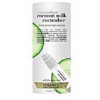 Organix Ever Radiant Coconut Milk Eye Bright Anti Puff Eye Cream .5oz