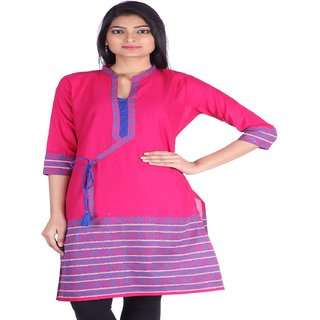 Jaipur Prints Pink  Semi Formal Bagalbandi Kurta with Blue Rope (HC33PINK)