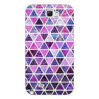 Enhance Your Phone Purple Triangles Pattern Back Cover Case For Samsung Galaxy Note 2 N7100 E80268