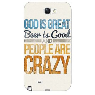 Enhance Your Phone Beer Quote Back Cover Case For Samsung Galaxy Note 2 N7100 E81215