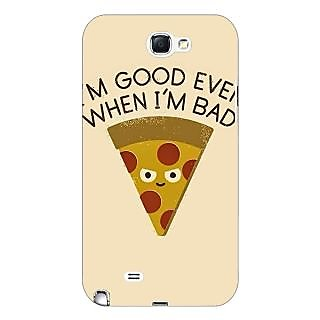 Enhance Your Phone Pizza Quote Back Cover Case For Samsung Galaxy Note 2 N7100 E81388