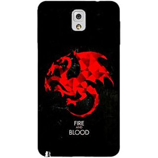 Enhance Your Phone Game Of Thrones GOT House Targaryen  Back Cover Case For Samsung Galaxy Note 3 N9000 E90140