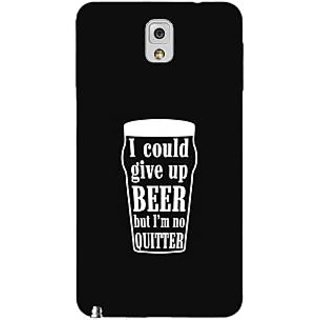 Enhance Your Phone Beer Quote Back Cover Case For Samsung Galaxy Note 3 N9000 E91254