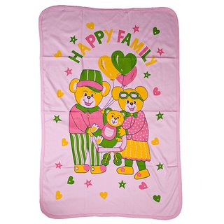 Love Baby Bath Towel 1907 Egyption Cotton Regular Cartoon Print (Pink)