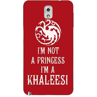 Enhance Your Phone Game Of Thrones GOT Princess Khaleesi Back Cover Case For Samsung Galaxy Note 3 N9000 E91536