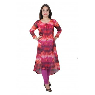 Jcpahni women Red printed kurti