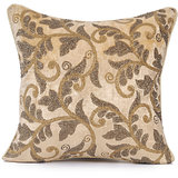 ROOHI - Off-white Velvet Embroidered Cushion Cover - Set Of 2