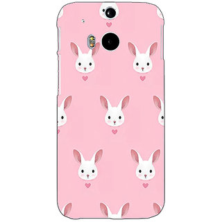 Enhance Your Phone Rabbit Back Cover Case For HTC One M8 E140098