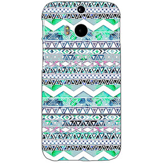 Enhance Your Phone Aztec Girly Tribal Back Cover Case For HTC One M8 E140100