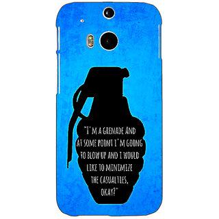 Enhance Your Phone TFIOS Grenade  Back Cover Case For HTC One M8 E140106
