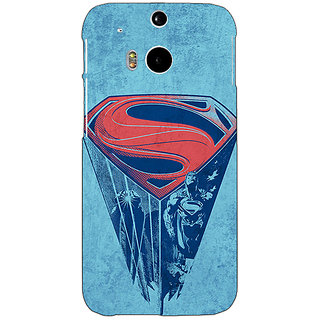 Enhance Your Phone Superheroes Superman Back Cover Case For HTC One M8 E140387