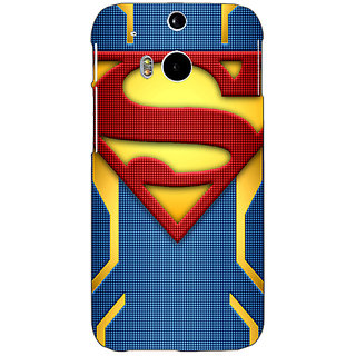 Enhance Your Phone Superheroes Superman Back Cover Case For HTC One M8 E140390