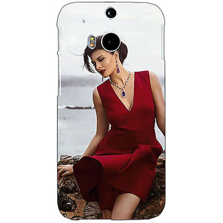 Enhance Your Phone Bollywood Superstar Jacqueline Fernandez Back Cover Case For HTC One M8 E141050